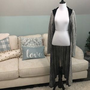 Peace Love World Duster Hooded Cardigan